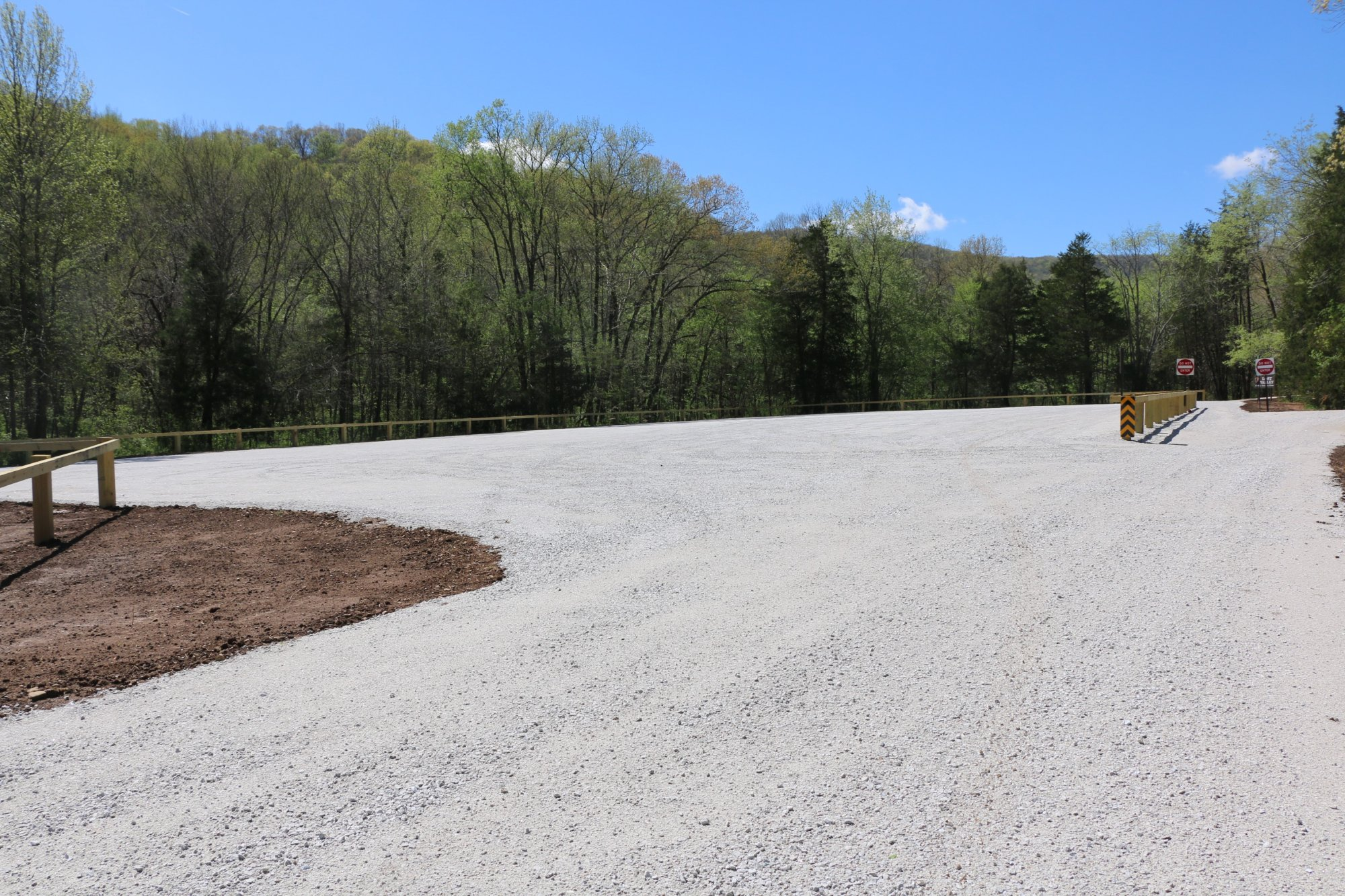 The newly constructed parking area for Lost Valley. Photo: Madison West/NPS