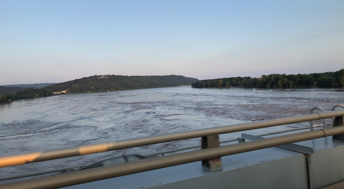 Arkansas River at the Ozark River Bridg. (Courtesy of Alivia Fort)