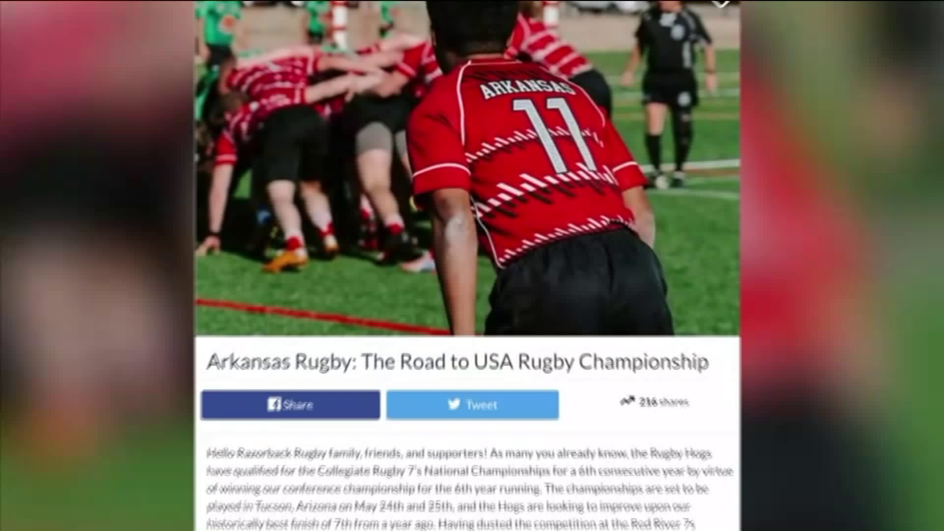 Razorback Rugby Team Asking For GoFundMe Donations