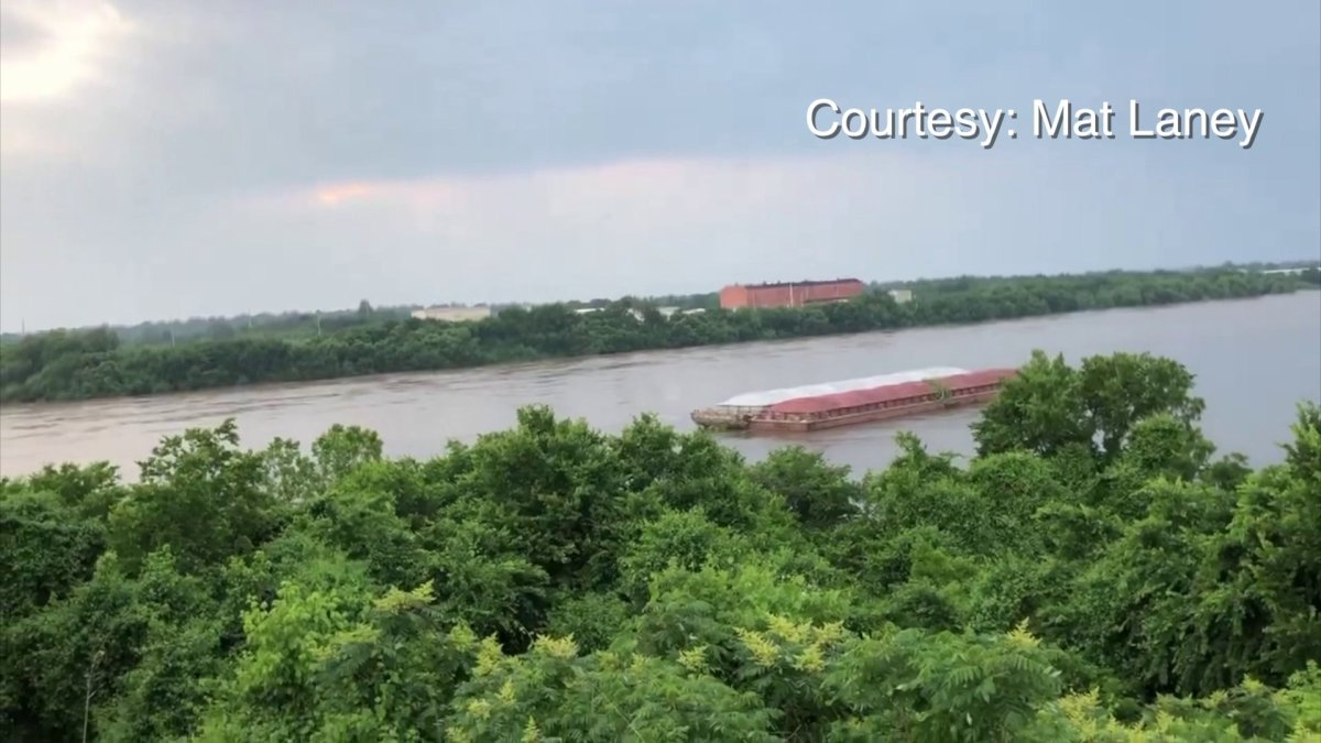VIDEO: Officials Working To Secure Stuck Barges; I-40 Will