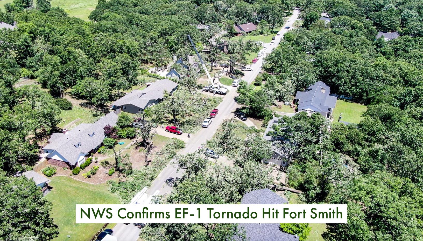 NWS Confirms EF-1 Tornado Hit Fort Smith Saturday thumbnail