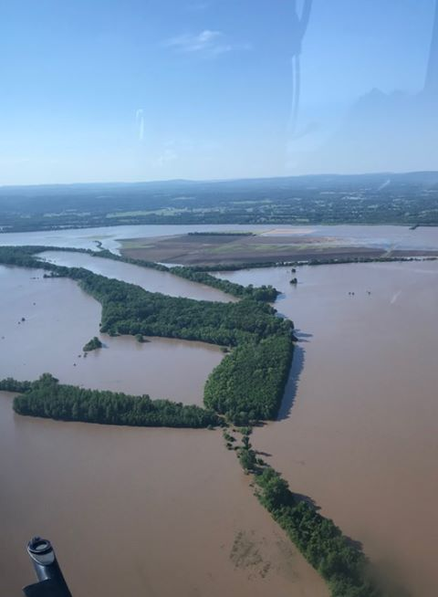 Fort Smith flooding. Courtesy of Marlana Cameron Ivy. 5-24-19