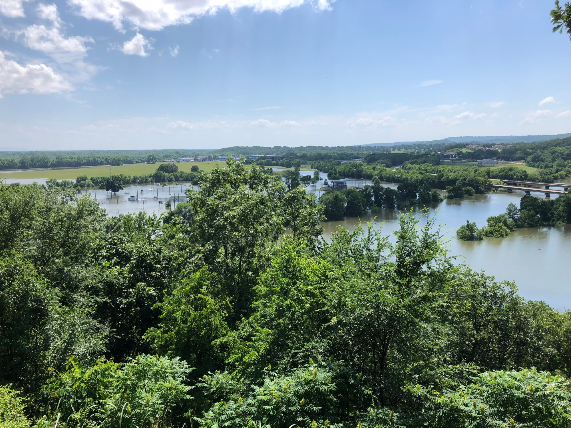 Field of Dreams and Lee Creek from bluff in Vista North in Van Buren, courtesy of Richard Threadgill.  5-24-19