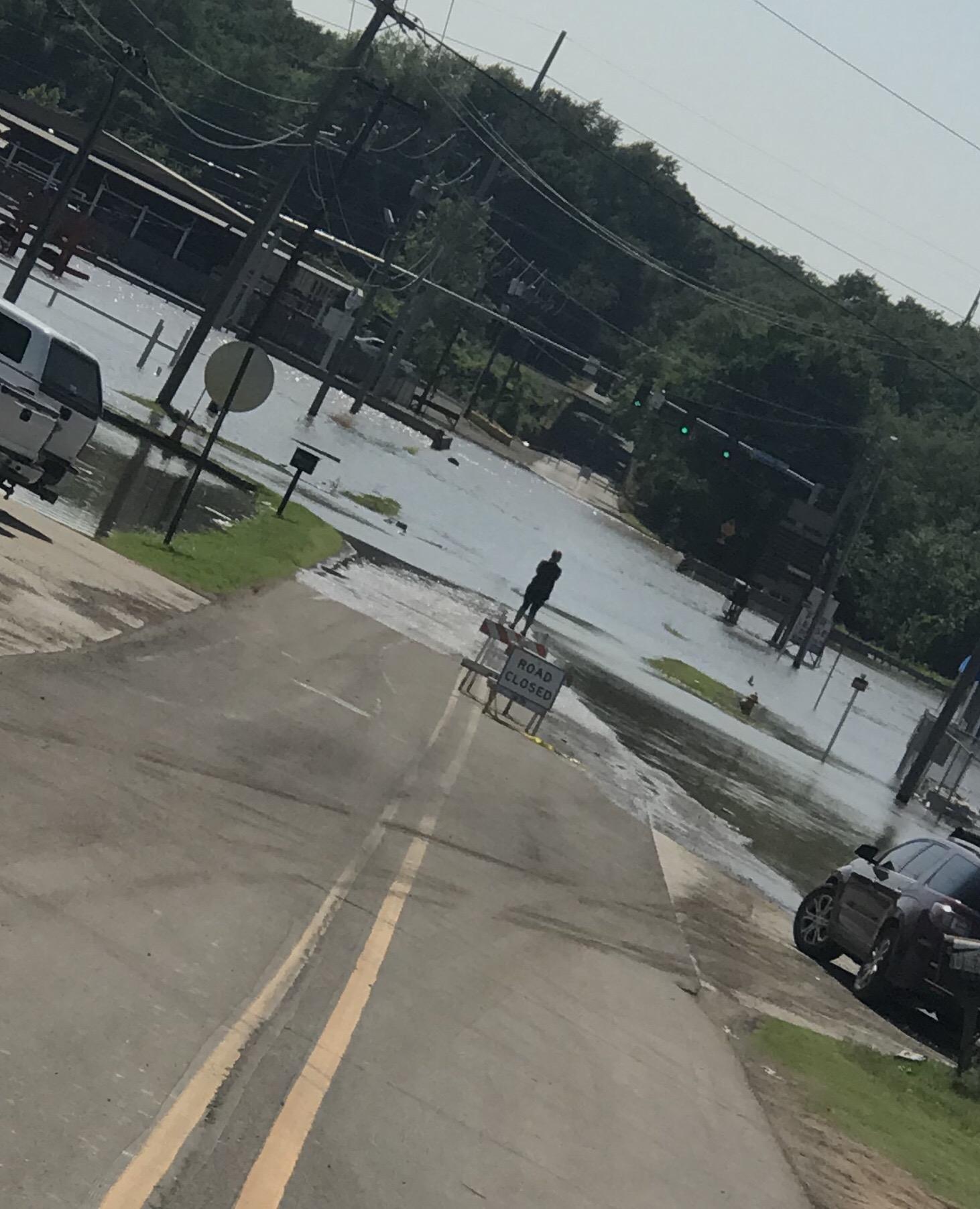 Flooding of Plunkett Distributing (Courtesy of Jackson Kindy)