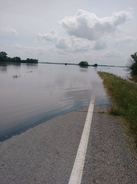 Hwy. 9A in Arkoma. Courtesy of Michael Toon and Racquel Henderson