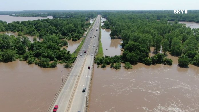 I-540 Bridge, Midland Bridge Closed Due To Historic Flooding