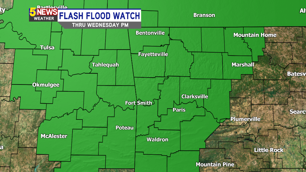 NEW: Flash Flood Watch For Entire Area thumbnail