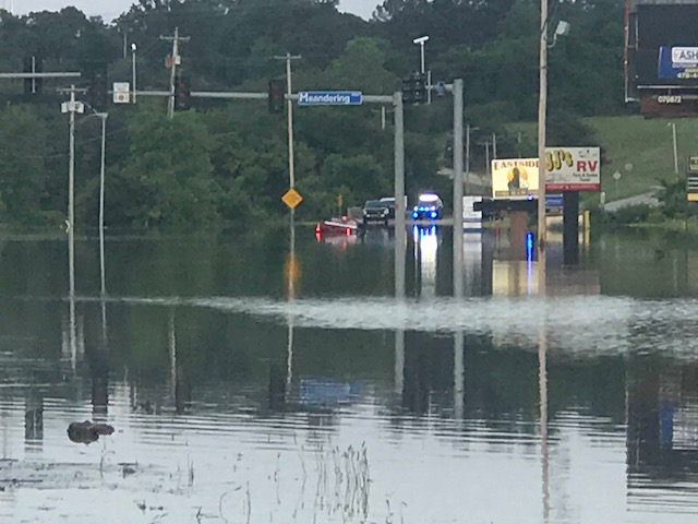 Driver Rescued From Flooded Area Of Rogers Avenue In Barling