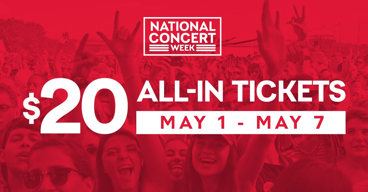 Live Nation Offering $20 Concert Tickets as Part of 'National Concerts Week'