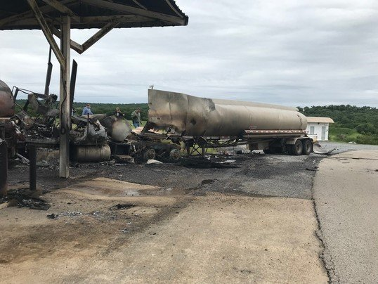 Fuel Truck Explodes At Mack Alford Correctional Center In Southeast Oklahoma thumbnail