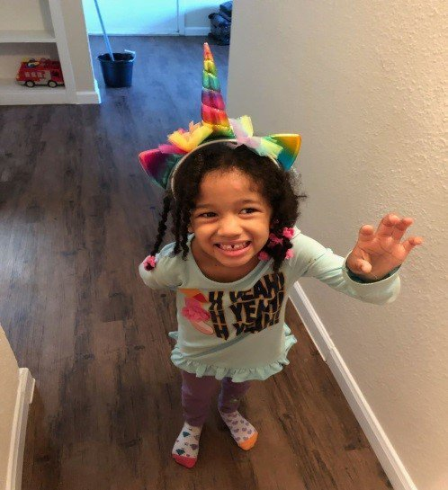 Houston police are looking for a missing 4-year-old girl after a family member says she was taken by three men in a truck.