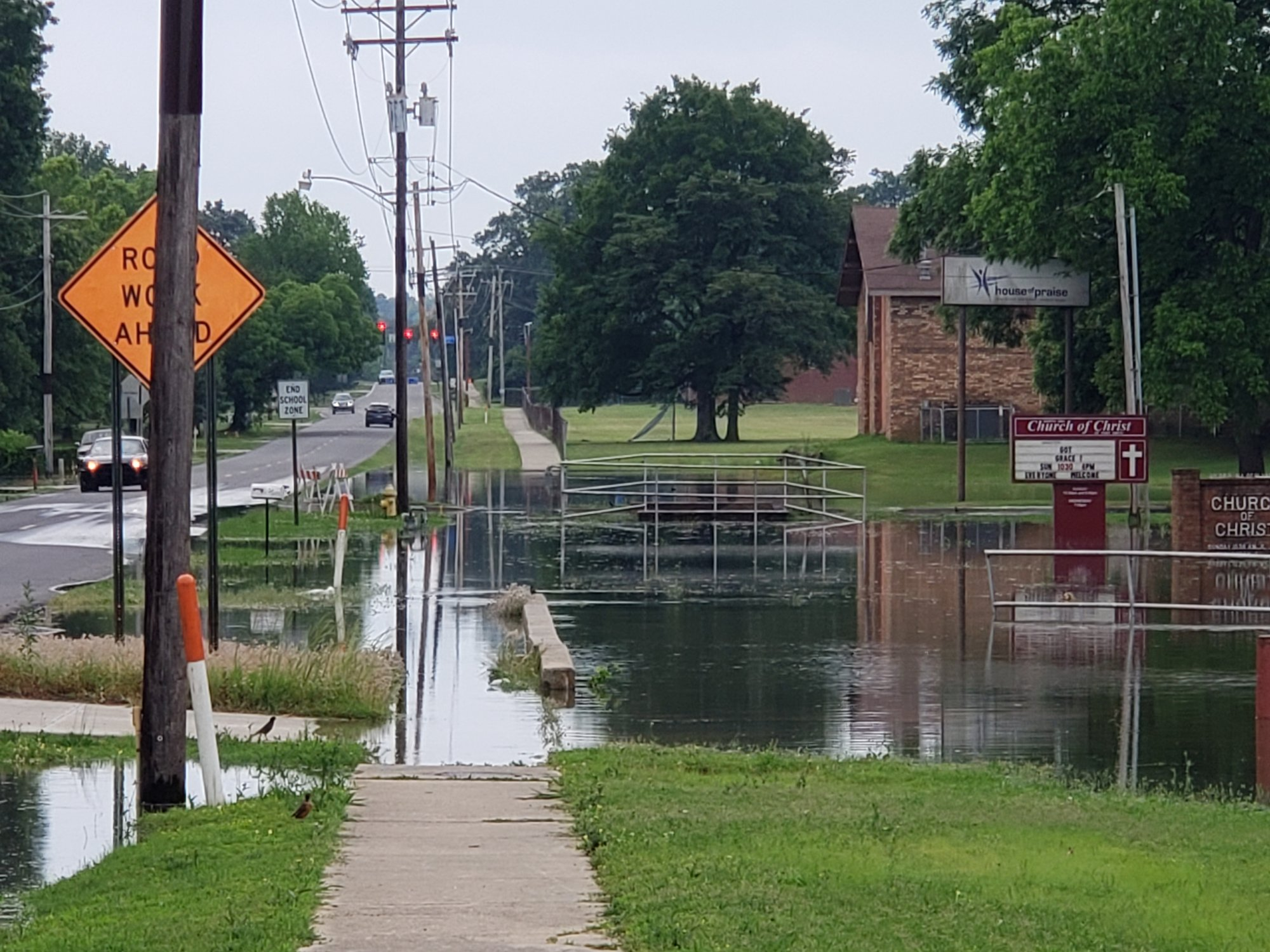 North 50th Street at Skywood Drive, which is now closed. (Courtesy of Sara Zanders)