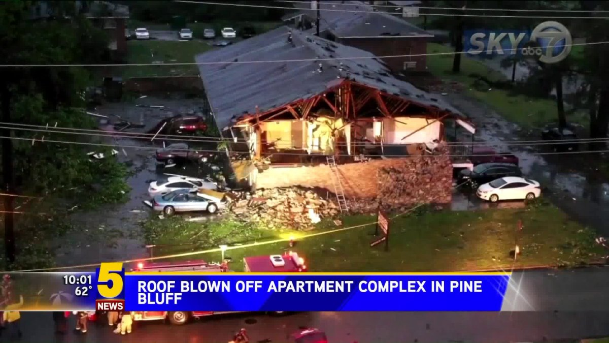Severe Weather: Possible Tornado Hits Pine Bluff's