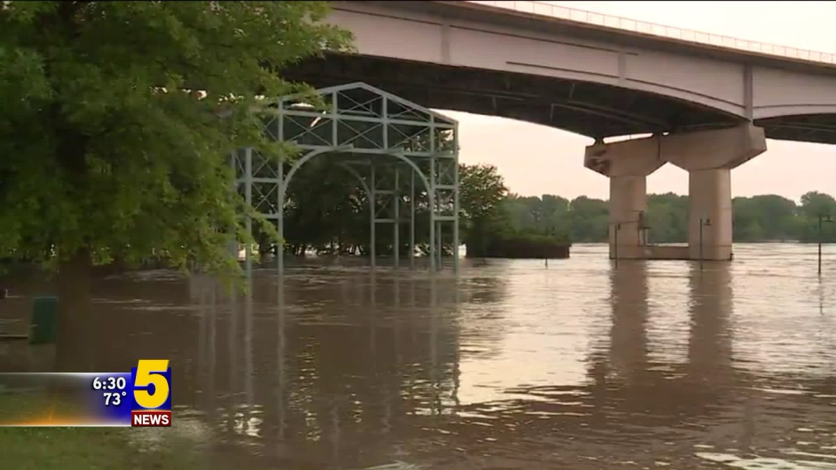Flooding Overtakes River Park In Fort Smith As Arkansas
