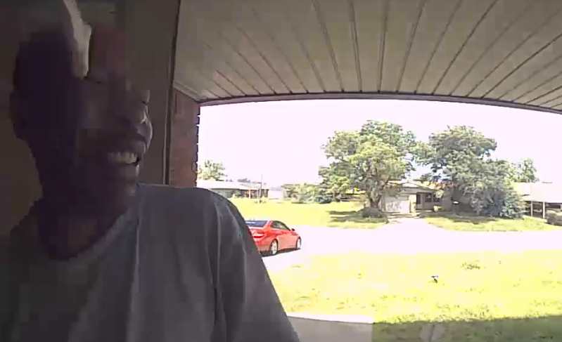 Watch: Oklahoma Man Bitten In Face By Snake While Opening Front Door thumbnail