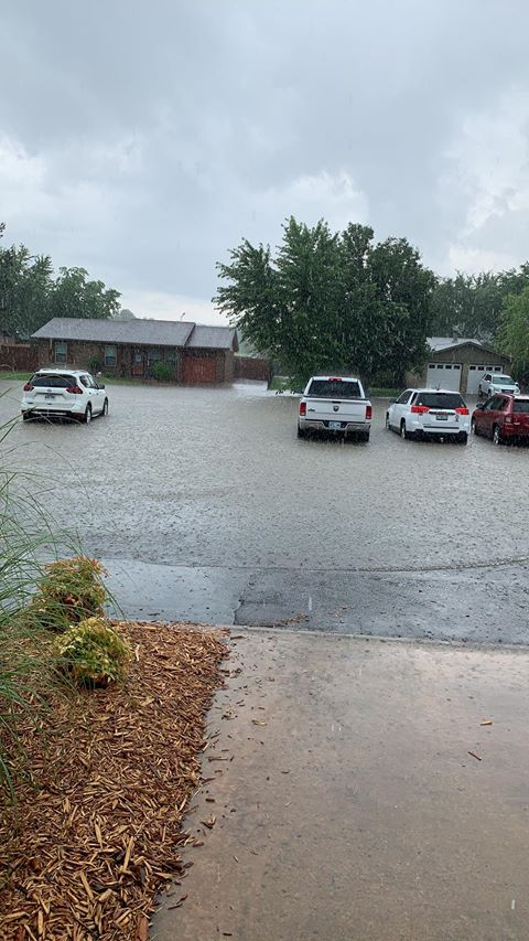 Flash flooding near Grinnell in Fort Smith (Courtesy of Sheri Smeltzer Stell)