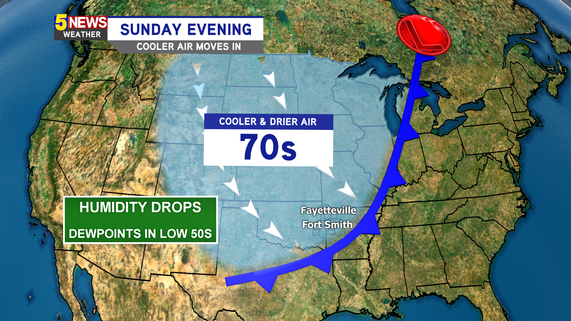 Cold Front Swings Through By Sunday Evening thumbnail