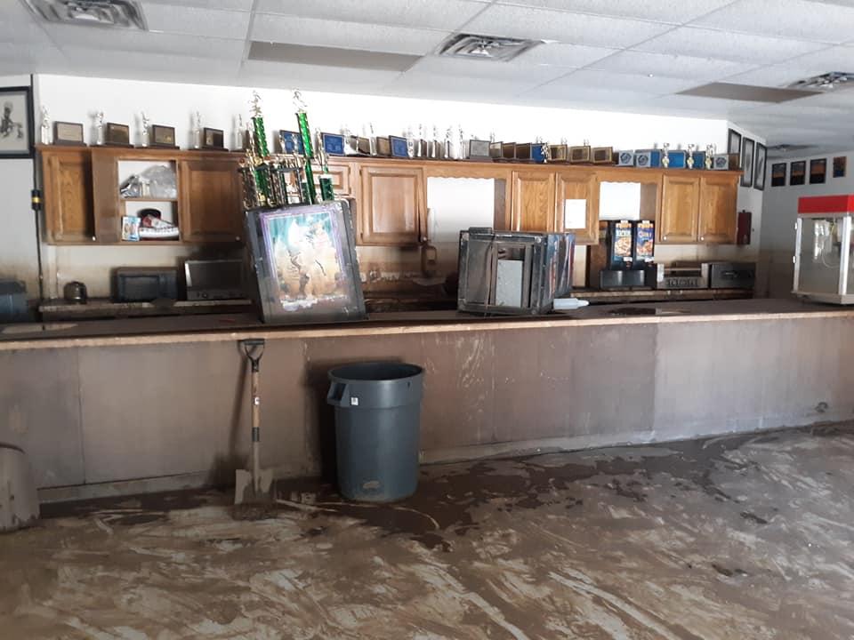 Moffett School Gym after flood (Courtesy of Misty Atkerson)
