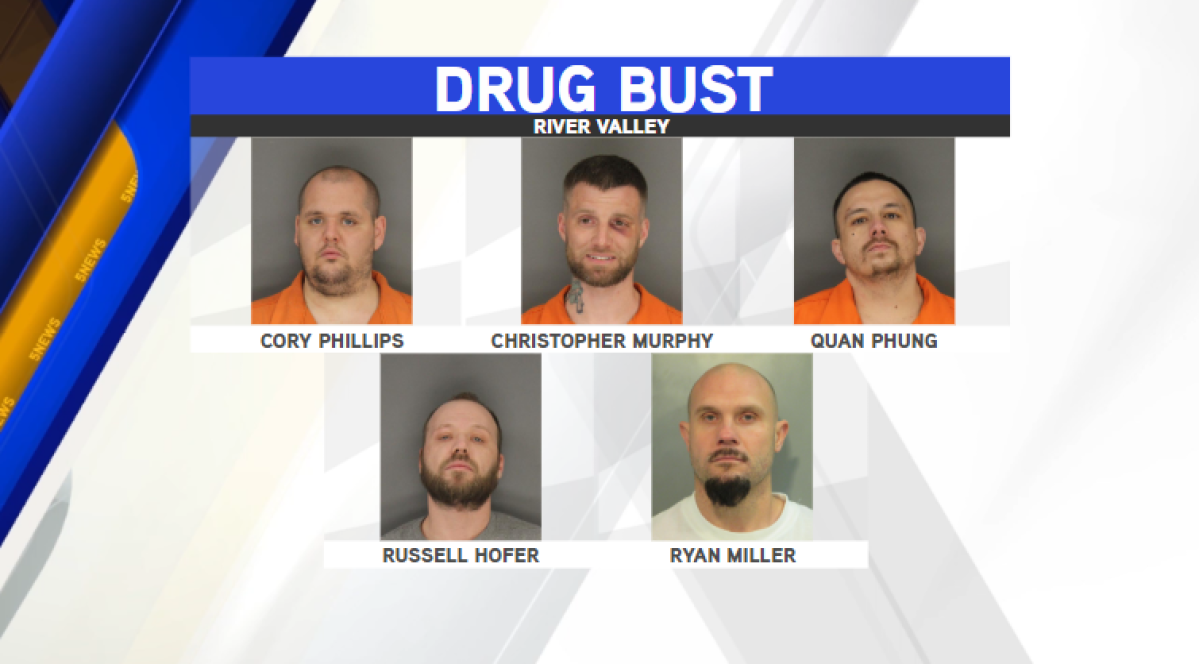Five Indicted After Feds Bust Sprawling Drug Ring In River Valley