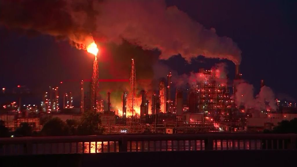 A large fire broke out early Friday at a refinery in Philadelphia, the city fire department told CNN, and residents in the area reported hearing loud explosions.