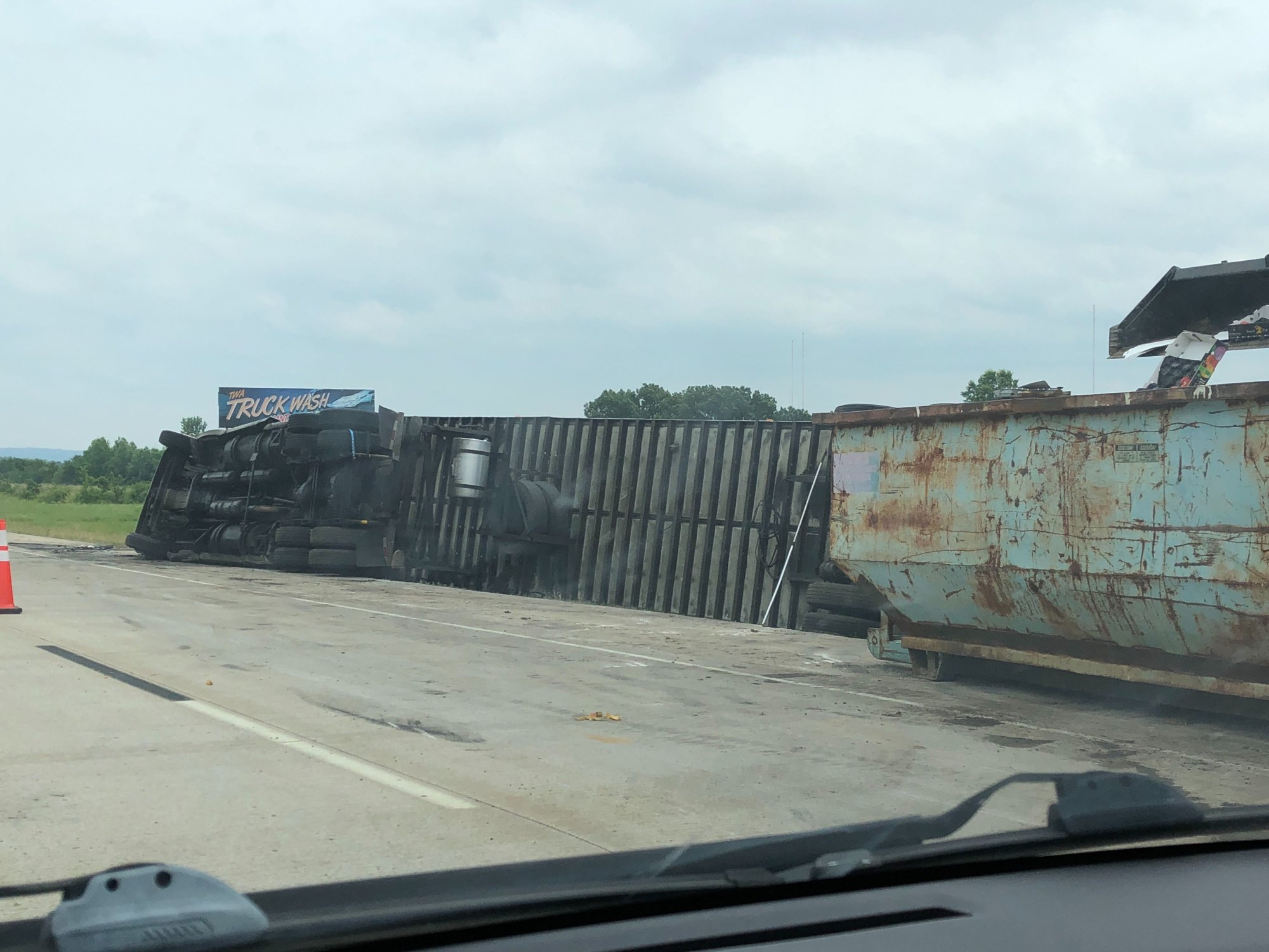 Crews Still Cleaning Up After Semi-Truck Accident On I-40 Near