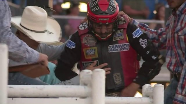 Bull Riders From Around The World Compete At Buckin' In The Ozarks In Springdale