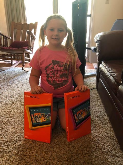 """These Amazon Fire Tablets were won by the Graggs on """"The Price Is Right."""""""