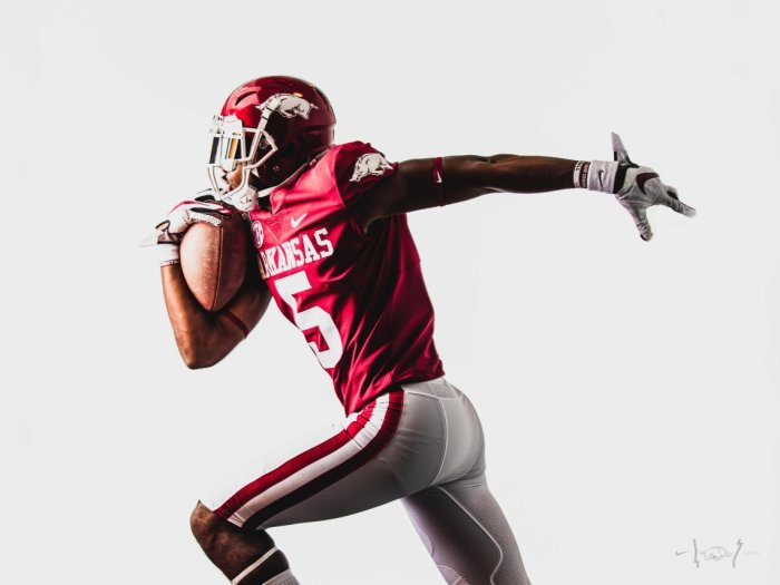 University Of Arkansas Reveals New Razorback Football Uniforms