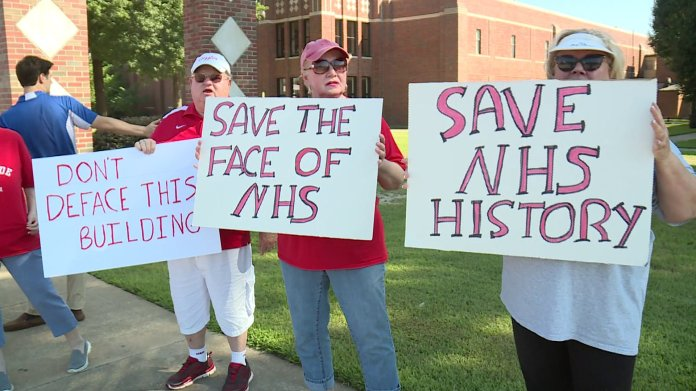 Northside High School Alumni Protest Changes To The School's Appearance