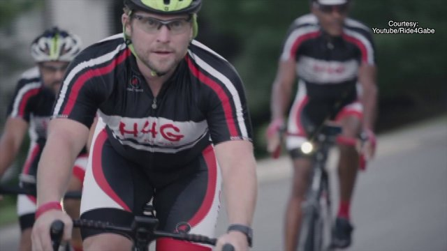 Cyclists On Cross-Country Charity Ride Pass Through Fort Smith