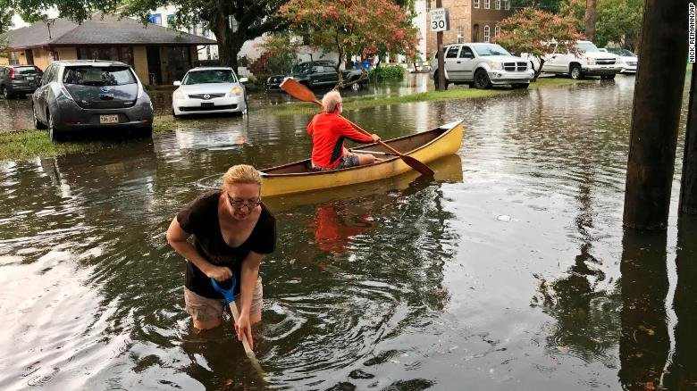 The Broadmoor neighborhood in New Orleans was flooded Wednesday.