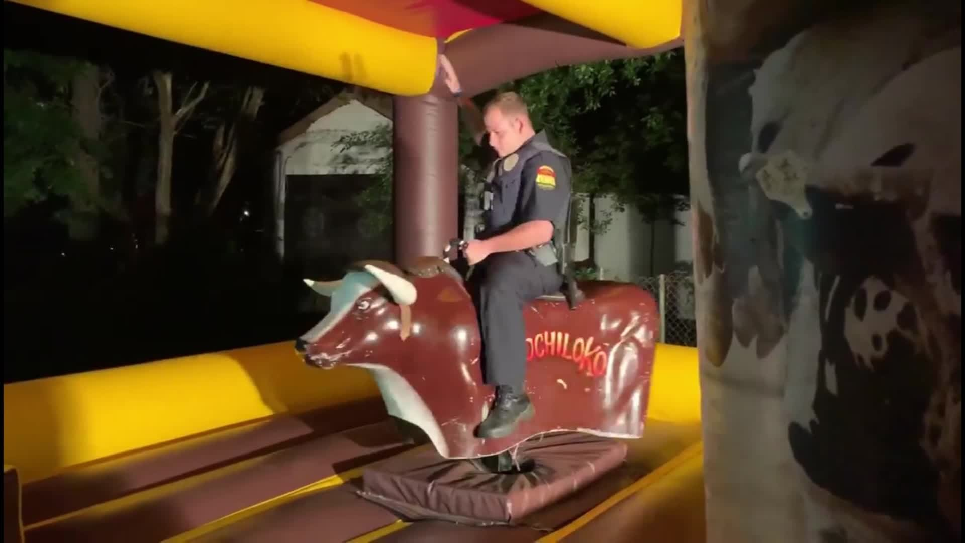 Texas Police Officer Responds To Noise Complaint, Ends Up Riding A Mechanical Bull thumbnail
