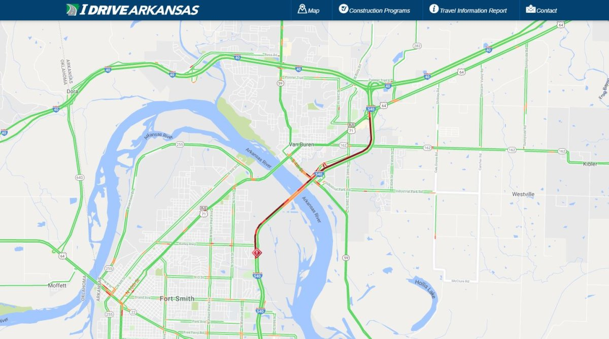 Pair Of Accidents Delayed Traffic On I-540 Southbound In Fort Smith