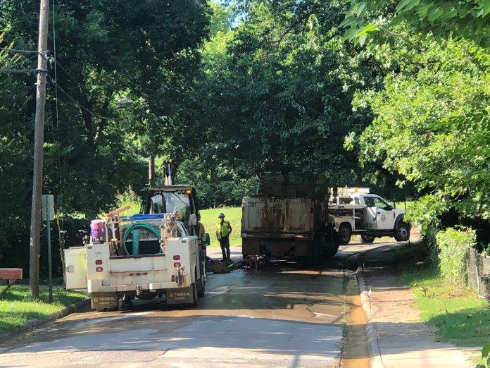 Water Main Break Temporarily Closes Fayetteville Street