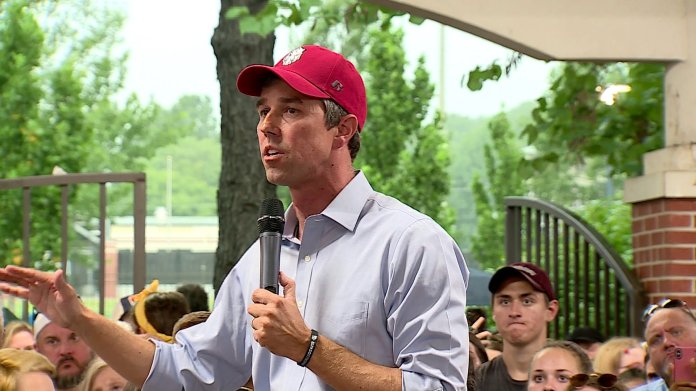 Democrat Beto O'Rourke Visits Fayetteville For Campaign Rally