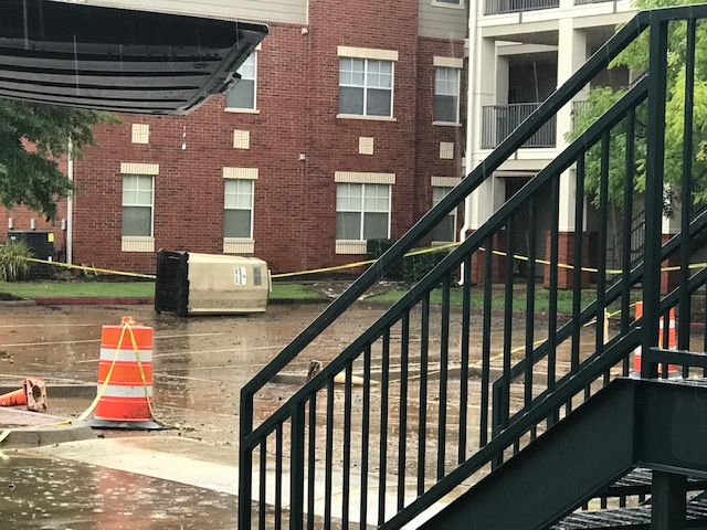 Floodwaters Enter Buildings At UAFS, Including Dormitory