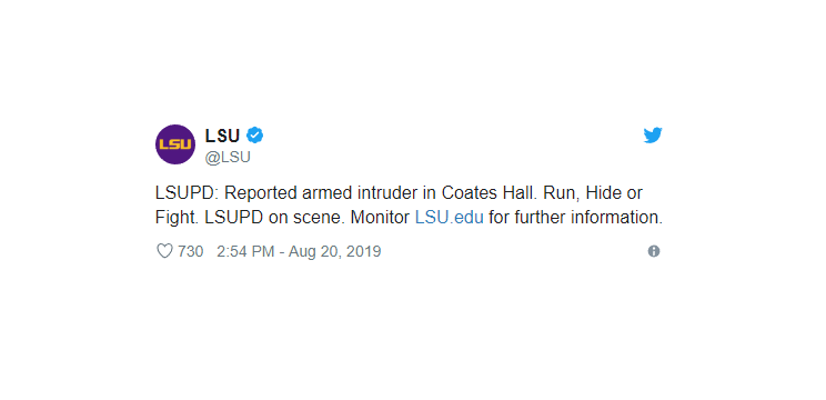 Lsu Reporting Armed Intruder On Campus Fort Smith
