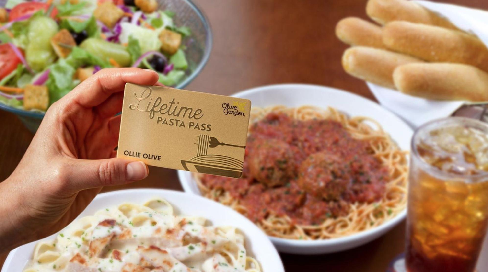 Olive Garden Pronounces Novel 'Lifetime Pasta Pass' thumbnail