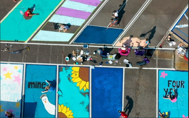 High School In Central Arkansas Starts New Tradition By letting Seniors Paint Parking Spots