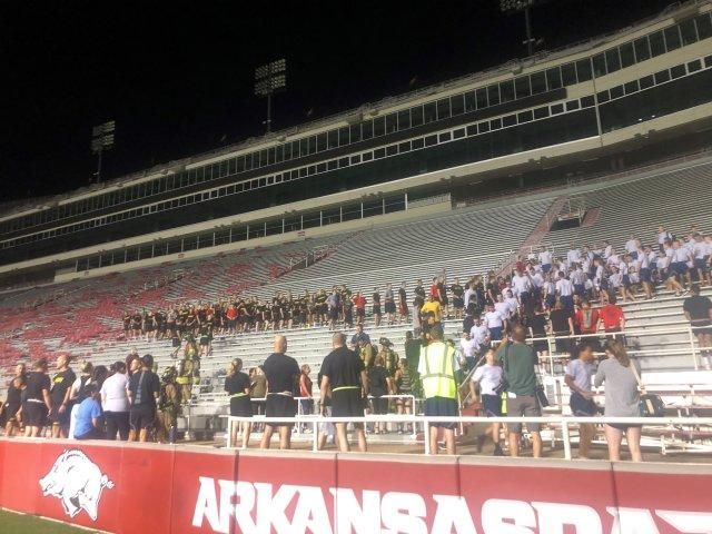 University Of Arkansas ROTC Honor Fallen First Responders With 9/11 Memorial Run