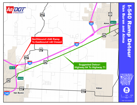 Lanes Closing On I-49 And I-540 In River Valley For Road ... on us route 95 map, us route 32 map, us route 24 map, us i-71 map, us route 11 map, us route 202 map, los angeles highway map, us route 13 map, us route 33 map, 71 in missouri us map, us interstate 25 map, us route 15 map, us interstate 35 map, us route 60 map, us hwy map, colorado river on us map, us route 35 map, us interstate 75 map, north cascades highway map,
