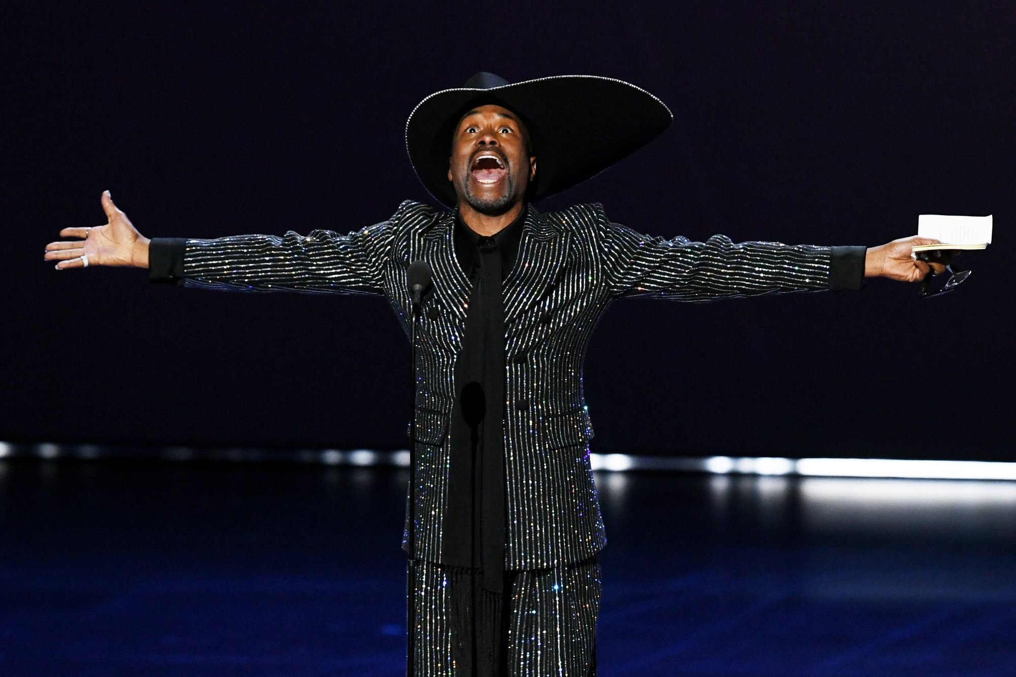"""Billy Porter became the first openly gay man to win the Emmy for outstanding lead actor in a drama series category for his role on """"Pose."""""""