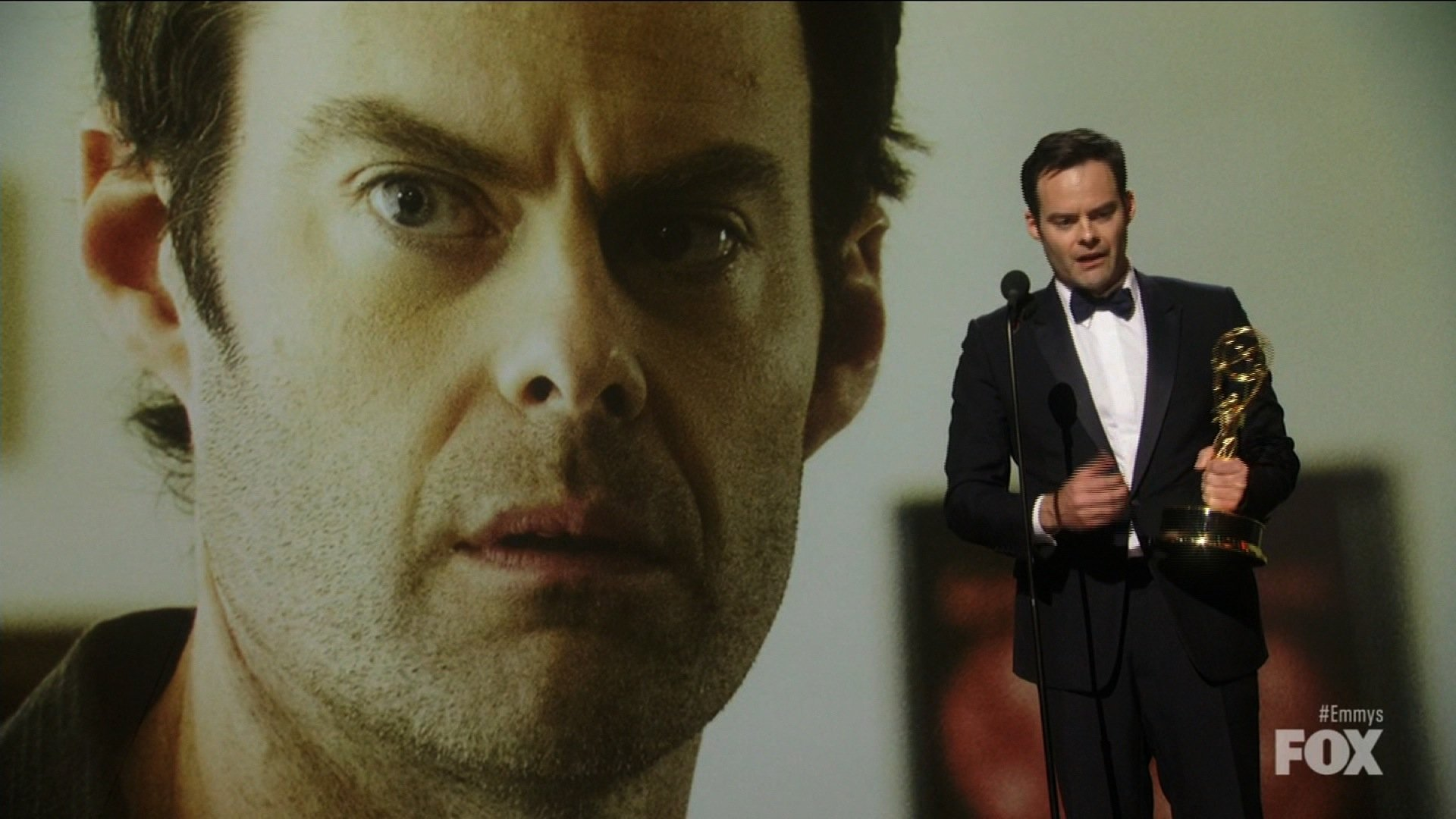"Actor Bill Hader took home Emmy gold for his role in HBO's ""Barry."""