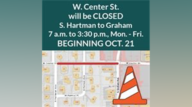 Center Street In Fayetteville To Close For Sidewalk Construction
