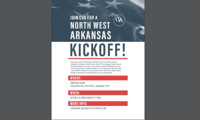 Concerned Veterans For America Kickoff in NWA