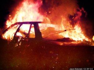 Fiery Rescue Car Fire