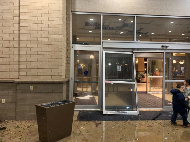 Embassy Suites Damaged In Rogers