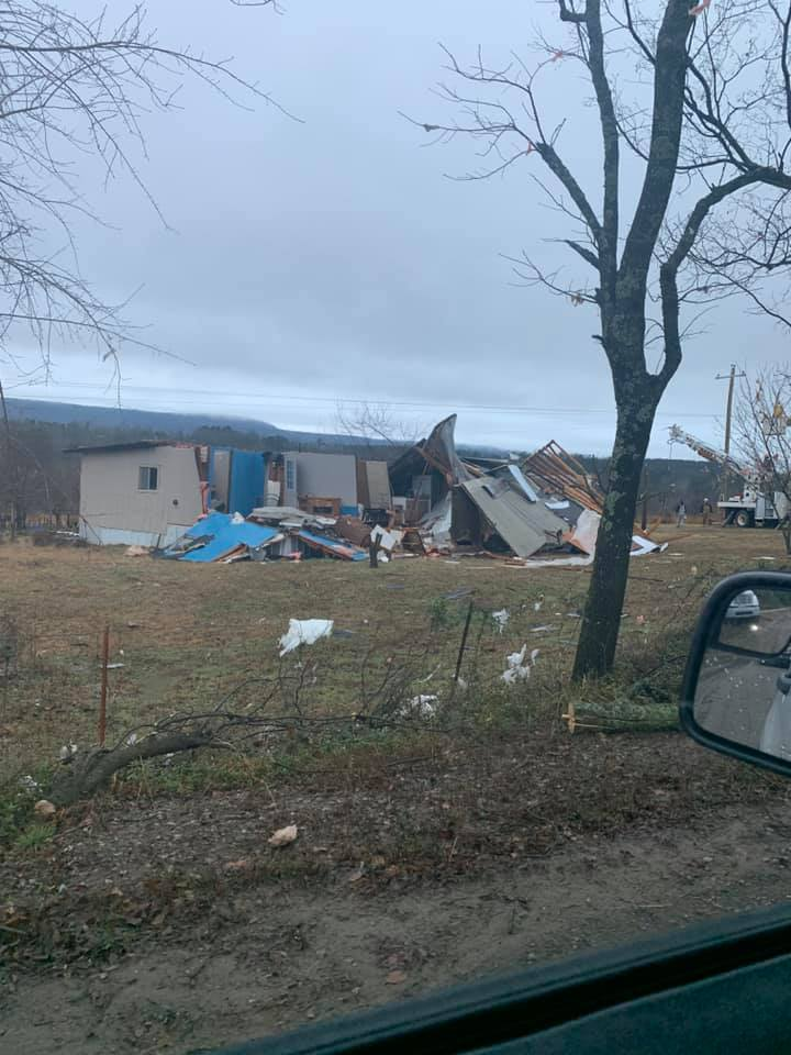 Possible tornado damage in the Midway and Scranton areas. (Photo Courtesy: Logan County Deputy Brett Chappell)